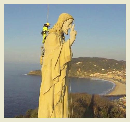 Video desde lo alto del  Sagrado Corazón de San Sebastián