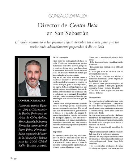 Gonzalo Zarauza nominado a los Premios Figaro