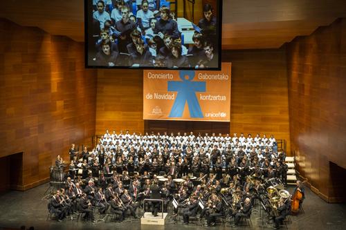 Concierto de navidad de Unicef en San Sebastian