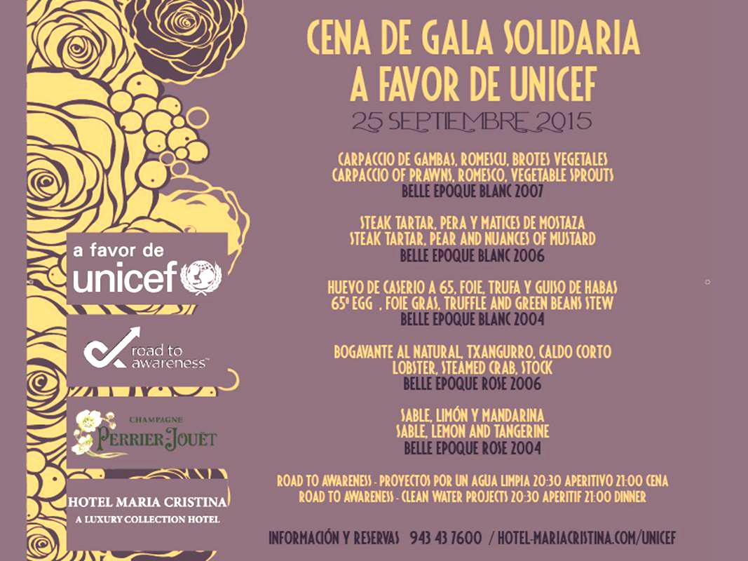 Cena de Gala Benéfica en Hotel María Cristina