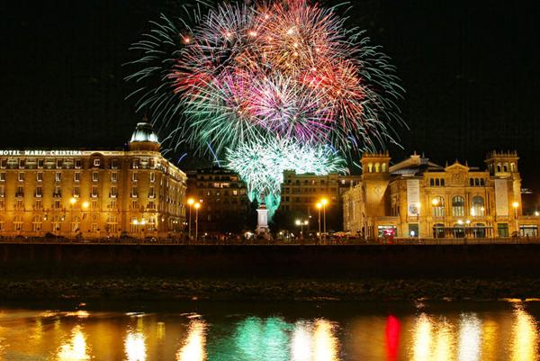 Fuegos Artificiales en la Semana Grande de San Sebastián