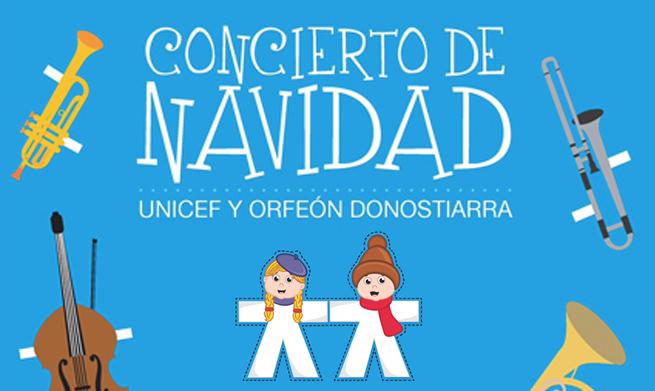 Concierto de Navidad del Orfeón Donostiarra a favor de Unicef