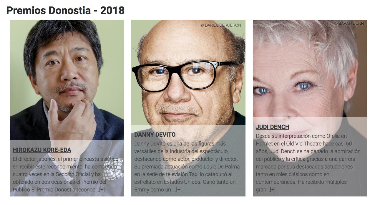 Novedades y Premios Festival Cine San Sebastián 2018