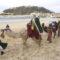 Los Reyes Magos llegan montados a lomos de sus caballo a San Sebastián